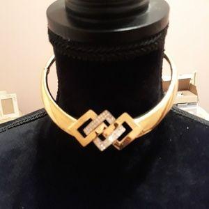 Lanvin necklace retro rhinestone